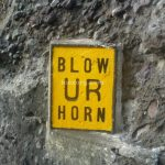 Blow Ur Horn sign in Batanes