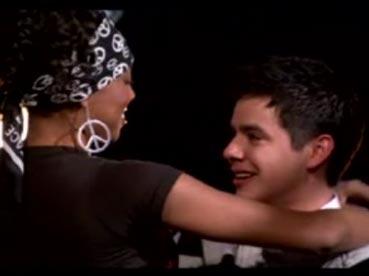 Alexandrea hugs David 1