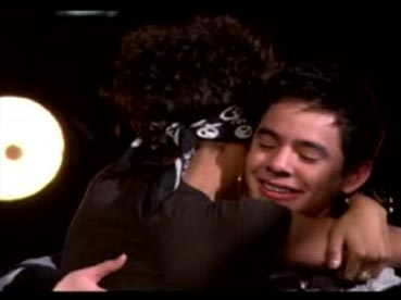 Alexandrea hugs David 2